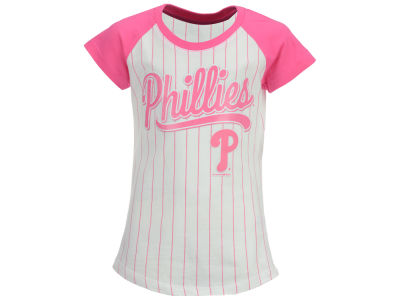Philadelphia Phillies MLB Girls Pinstripe T-Shirt