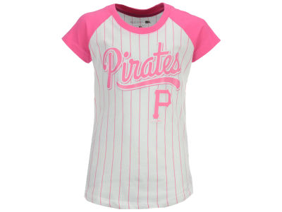 Pittsburgh Pirates MLB Girls Pinstripe T-Shirt