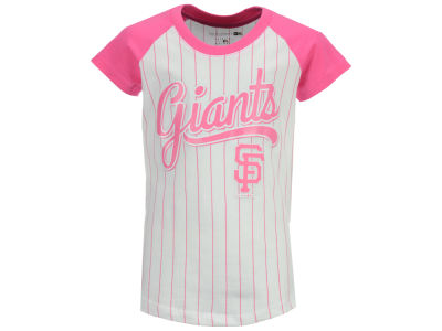 San Francisco Giants MLB Girls Pinstripe T-Shirt