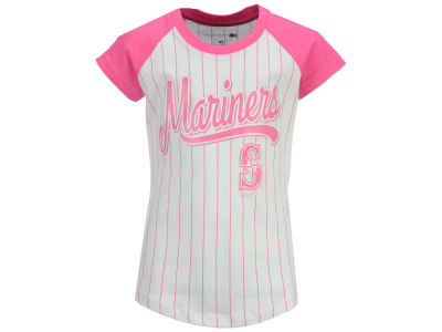 Seattle Mariners MLB Girls Pinstripe T-Shirt