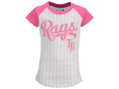 Tampa Bay Rays 5th & Ocean MLB Girls Pinstripe T-Shirt