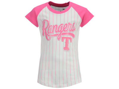 Texas Rangers 5th & Ocean MLB Girls Pinstripe T-Shirt