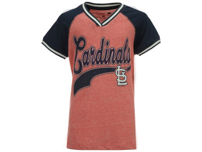 St. Louis Cardinals 5th & Ocean MLB Girls Rhinestone Script T-Shirt