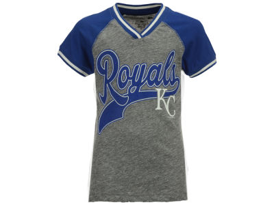 Kansas City Royals 5th & Ocean MLB Girls Rhinestone Script T-Shirt