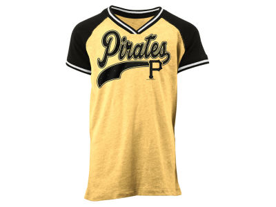 Pittsburgh Pirates MLB Girls Rhinestone Script T-Shirt