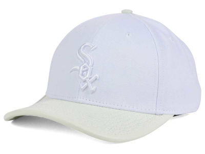 Chicago White Sox Pro Standard MLB Premium White on White Curve Strapback Cap