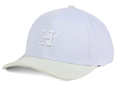 Houston Astros Pro Standard MLB Premium White on White Curve Strapback Cap