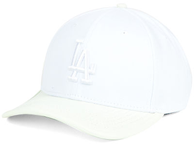Los Angeles Dodgers Pro Standard MLB Premium White on White Curve Strapback Cap