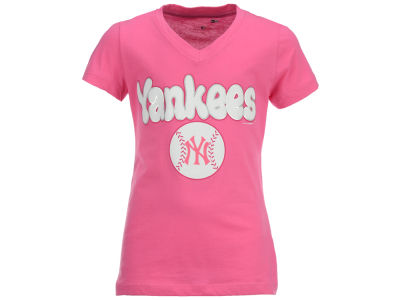 New York Yankees MLB Girls Retro Inspo T-Shirt