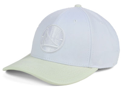 Golden State Warriors Pro Standard NBA Premium White On White Curve Strapback Cap
