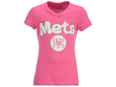 New York Mets MLB Girls Retro Inspo T-Shirt