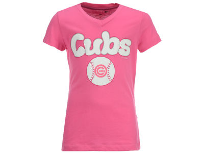 Chicago Cubs MLB Girls Retro Inspo T-Shirt