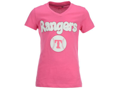 Texas Rangers 5th & Ocean MLB Girls Retro Inspo T-Shirt