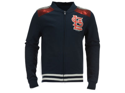 St. Louis Cardinals MLB Girls Sequin Zip Up Jacket