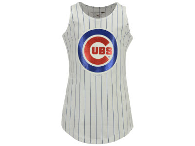 Chicago Cubs MLB Girls Youth Pinstripe Tank