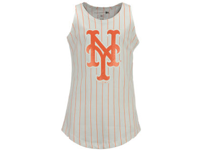 New York Mets 5th & Ocean MLB Girls Youth Pinstripe Tank