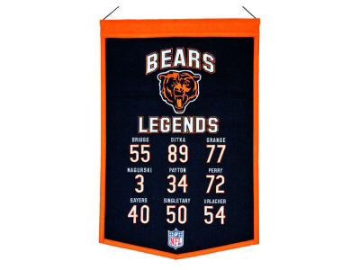 Chicago Bears Legends Banner 14x22