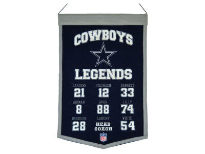 Dallas Cowboys Winning Streak Legends Banner 14x22