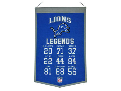 Detroit Lions Legends Banner 14x22