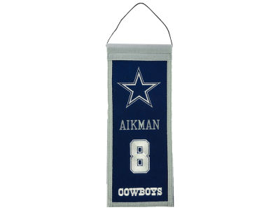 Dallas Cowboys Troy Aikman Legends Banner 14x22