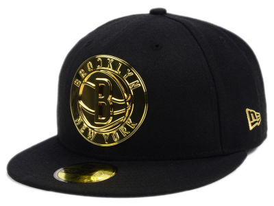 Brooklyn Nets New Era NBA Current O'Gold 59FIFTY Cap