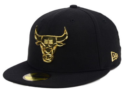Chicago Bulls New Era NBA Current O'Gold 59FIFTY Cap