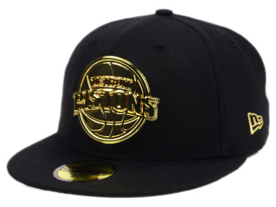 Detroit Pistons New Era NBA Current O'Gold 59FIFTY Cap