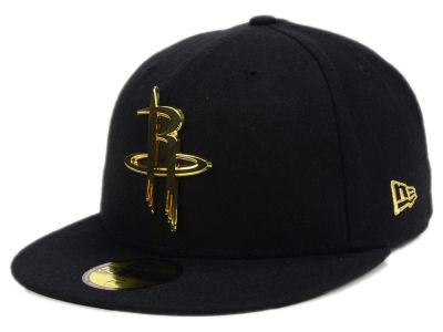 Houston Rockets New Era NBA Current O'Gold 59FIFTY Cap