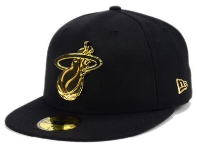 Miami Heat New Era NBA Current O'Gold 59FIFTY Cap
