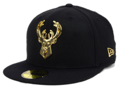 Milwaukee Bucks New Era NBA Current O'Gold 59FIFTY Cap