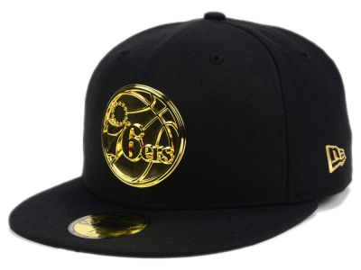 Philadelphia 76ers New Era NBA Current O'Gold 59FIFTY Cap