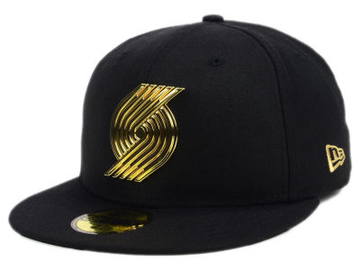 Portland Trail Blazers New Era NBA Current O'Gold 59FIFTY Cap
