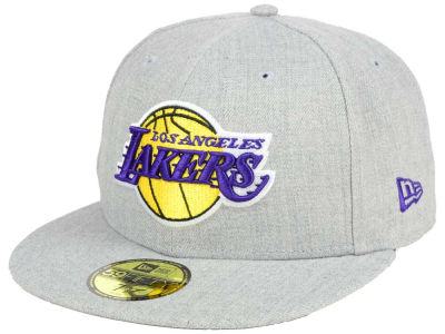 Los Angeles Lakers New Era NBA All Heather 59FIFTY Cap