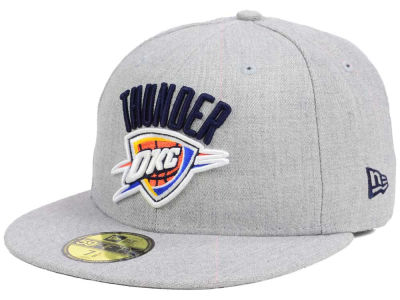 Oklahoma City Thunder New Era NBA All Heather 59FIFTY Cap
