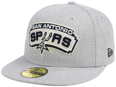 San Antonio Spurs New Era NBA All Heather 59FIFTY Cap