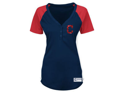 Cleveland Indians Majestic MLB Women's League Diva T-Shirt