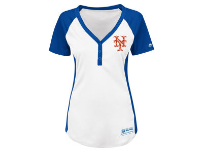 New York Mets Majestic MLB Women's League Diva T-Shirt