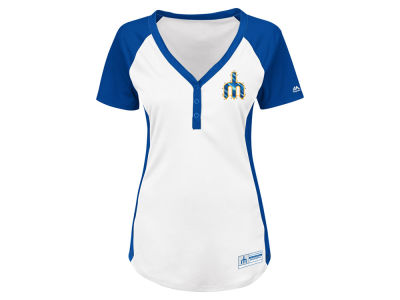 Seattle Mariners Majestic MLB Women's League Diva T-Shirt