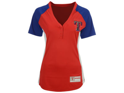 Texas Rangers Majestic MLB Women's League Diva T-Shirt