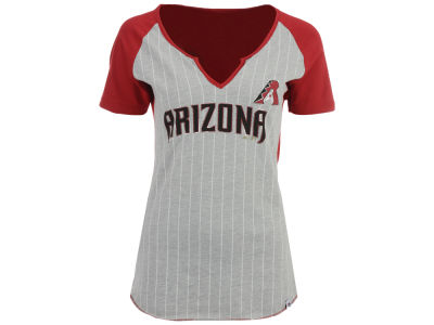 Arizona Diamondbacks MLB Women's From The Stretch Pinstripe T-Shirt