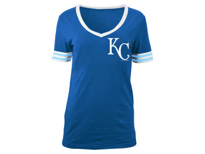 Kansas City Royals 5th & Ocean MLB Women's Retro V-Neck T-Shirt