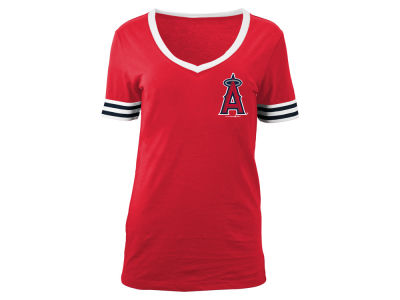 Los Angeles Angels 5th & Ocean MLB Women's Retro V-Neck T-Shirt