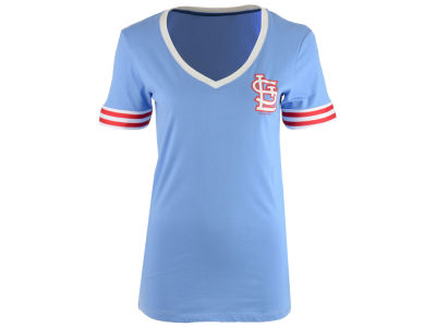 St. Louis Cardinals 5th & Ocean MLB Women's Retro V-Neck T-Shirt