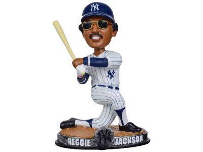 New York Yankees Reggie Jackson Forever Collectibles SMU Bobblehead