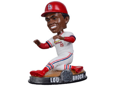 St. Louis Cardinals Lou Brock Forever Collectibles SMU Bobblehead