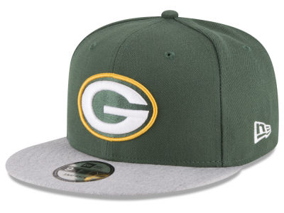 Green Bay Packers New Era NFL Heather Vize 9FIFTY Snapback Cap