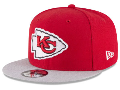 Kansas City Chiefs New Era NFL Heather Vize 9FIFTY Snapback Cap