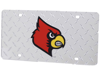 Louisville Cardinals Diamond Acrylic Laser Tag