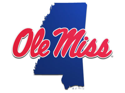 Ole Miss Rebels State Auto Emblem