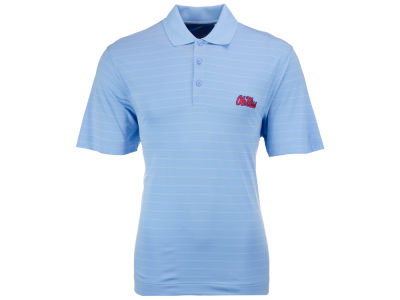 Ole Miss Rebels Cutter & Buck NCAA Men's Franklin Stripe Polo Shirt